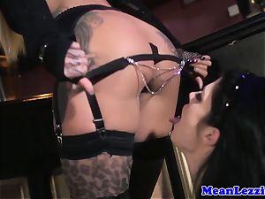 curvy Lucia enjoy luvs Angel Long's rosy vag