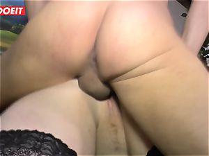 LETSDOEIT - plump lady Gets boned rock-hard On orgy gauze