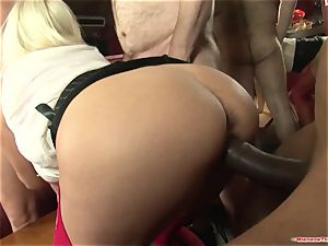 Michelle Thorne and youthful whore gang-fuck boink with gang