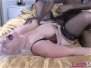 Lacey Starr Gets banged rigid by a black stud