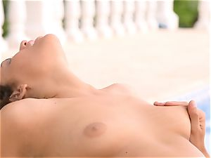 Mia Malkova gets her pussy shafted by the pool