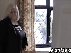 LACEYSTARR - Mature English babe nailed and facialized