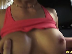 James Deen takes milf Cherie Deville for a rail on his weenie in the car