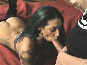 Veronica Rose railing in reverse cowgirl