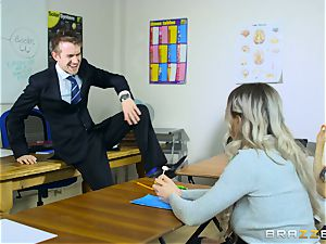 uber-sexy student Carly Rae gets pulverized by a massive dicked tutor