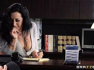 secretary Jayden Jaymes nails on the bosses desk