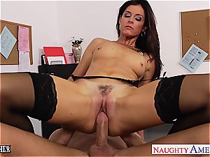 insane India Summer in tights pummeled by schoolgirl