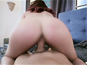 naughty ginger-haired tramp likes to have fun games