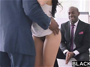 BLACKED super-fucking-hot Megan Rain Gets DP'd By Her Sugar dad and His pal