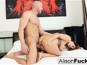 curvy Alison takes some fine chisel in her bedroom