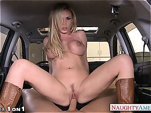 horny Nikki Benz in pov getting her mummy fuckbox porked