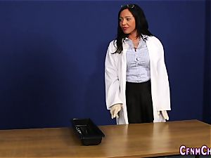 Cfnm domme gets facial