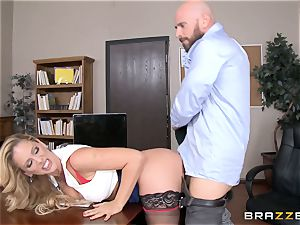 cougar manager Cherie Deville gets shafted by a massive dicked employee