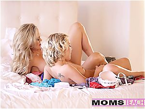 sizzling three way with beautiful mommy and daughter duo