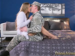 Dane Jones rock hard throating and boinking filthy Army wifey