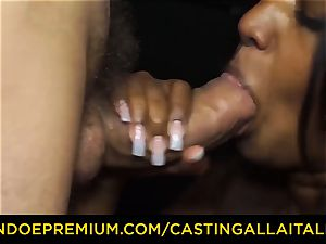 casting ALLA ITALIANA - Indian babe gets huge pipe rectal