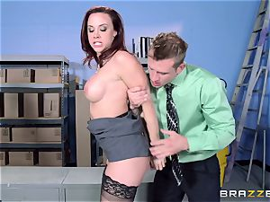 Chanel Preston nails her marvelous fellow at work