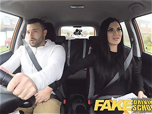 faux Driving school Jasmine Jae fully bare romp in car