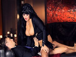 ebony haired Alison Tyler smashes her suited lover