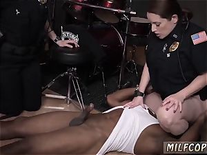 ash-blonde cougar thick faux-cock wet video captures officer pounding a deadbeat daddy.