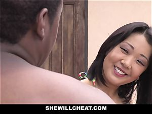 SheWillCheat - asian wife drills big black cock man