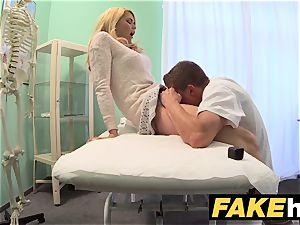 fake hospital messy medic gives blonde Czech stunner