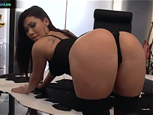 London Keyes got her widely opened fuck-hole spread