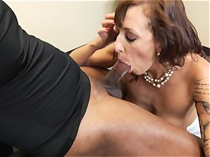 Alia Janine gets her mouth crammed with hard stiffy
