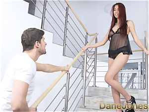 Dane Jones chinese ultra-cutie gives beau marvelous lingerie
