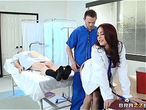 beautiful medic Monique Alexander pummels her trainee