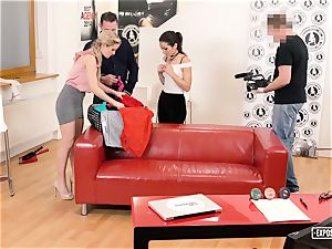 exposed casting - steamy audition with Italian porn industry star