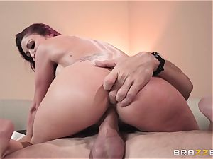 Monique Alexander filled nads deep in her cock-squeezing muffhole