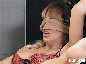 cougar Cherie Deville gets her vag eaten in her office by Gianna Dior