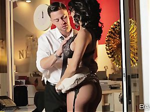 red-hot office beauty Peta Jensen has lovemaking with her employees after work