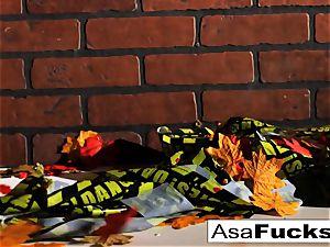 Asa's Zombie assfuck internal cumshot