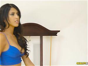 kinky real estate agent Sophia Leone stuffs a customers bone in her jaws