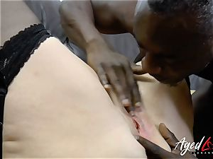 AgedLovE Lacey Starr interracial gonzo rectal