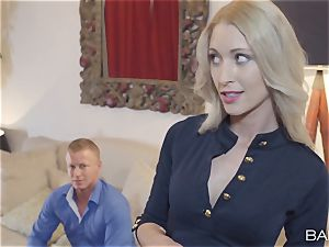 Uma Zex share her dude with another super hot light-haired honey