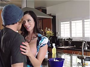 Mean mother Ariella Ferrera tempts her daughters stud