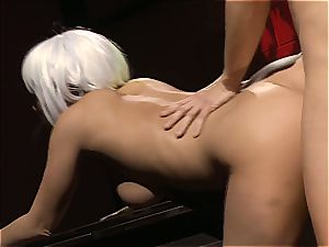 Charley chase is a platinum haired shag damsel