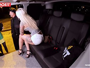 LETSDOEIT - fortunate taxi Driver Bones 2 super-steamy Blondes