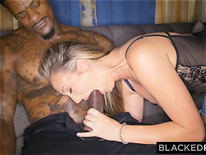 BLACKEDRAW Out Of Town girlfriend Cheats With big black cock After struggling With bf