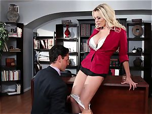 Stormy Daniels dicked throughout an office desk