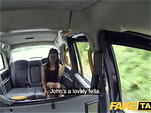 faux cab prompt boinking and creampie for peachy arse