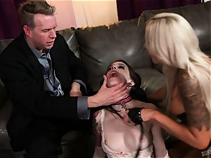 arse hookup with Nina Elle and Anna De Ville