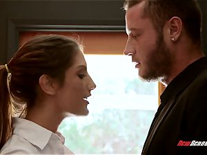 big-titted newly wed August Ames rekingling the flames with her hubby