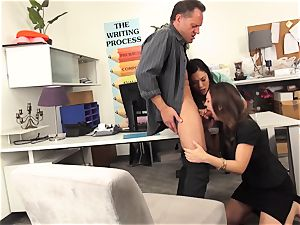 educators London Keyes and Jade Nile pound a schoolgirls father