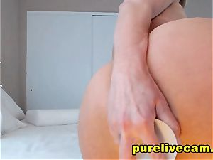 seductive light-haired mummy flash Off gigantic globes And loving Her dildo