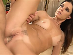 mummy India Summers gets analled in the bathroom