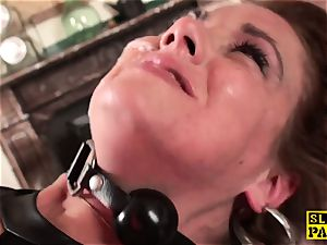 sandy-haired brit slave assfucked and bound